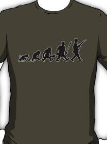 army soldat  navy warrior gun soldier T-Shirt