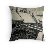 Bruges by René Crets Throw Pillow