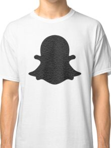 Leather snapchat logo Classic T-Shirt