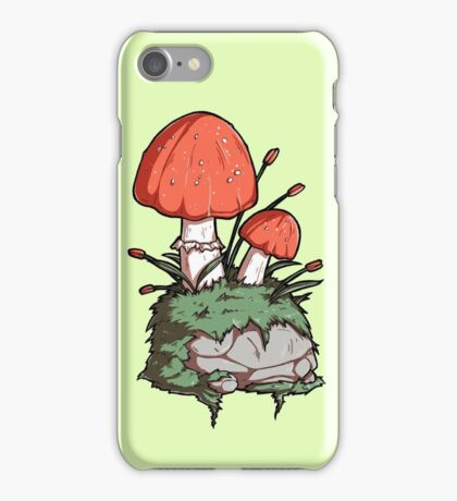 Mushrooms and Moss and a Rock iPhone Case/Skin