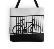 bicycle outline Tote Bag