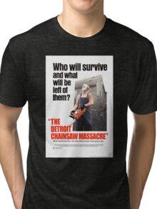 The Detoit Chainsaw Massacre Tri-blend T-Shirt