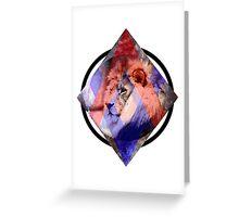 Art Lion Greeting Card