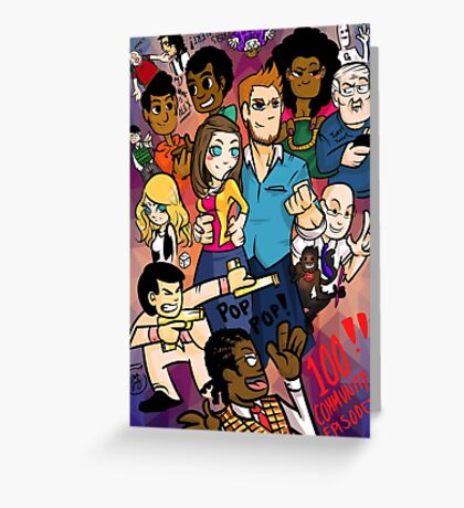 Community: 100 Episodes Greeting Card
