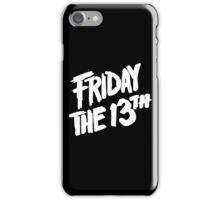 Friday the 13th iPhone Case/Skin