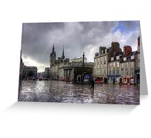 Aberdeen in the rain Greeting Card