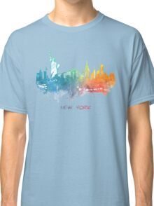 New York City skyline colored Classic T-Shirt