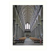 Salisbury Cathedral Interior Art Print