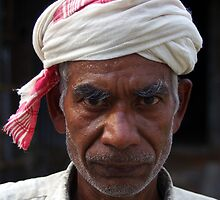 Old man, Majuli Island by John Mitchell