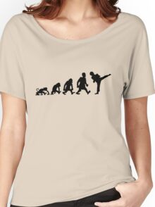 karate  taekwondo evolution darwin Women's Relaxed Fit T-Shirt