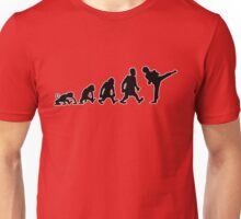 karate  taekwondo evolution darwin Unisex T-Shirt