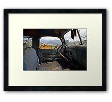 Inside The Old Truck Framed Print