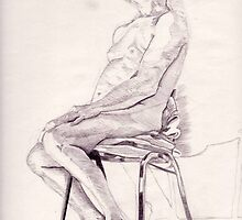 Life Drawing by Ruth  Hogg
