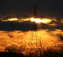 Electrifying Sunset by Dave & Trena Puckett