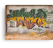 Graffitti Signed Canvas Print