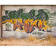 Graffitti Signed Photographic Print