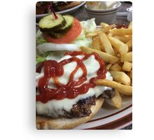 Bacon Cheeseburger  Canvas Print