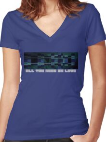 All You Need Is Love (Remix) Women's Fitted V-Neck T-Shirt
