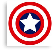 captain´s america logo Canvas Print