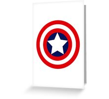 captain´s america logo Greeting Card