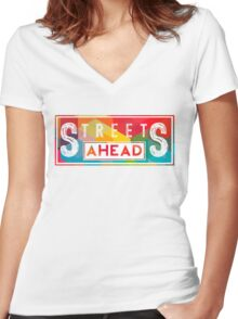 Community: Streets Ahead Women's Fitted V-Neck T-Shirt