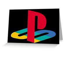 Original Playstation Logo Greeting Card