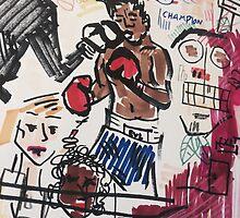 Basquiat V Warhol  by Emlyn  Orr