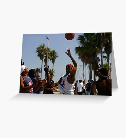 HOOPS IN VENICE 1 Greeting Card