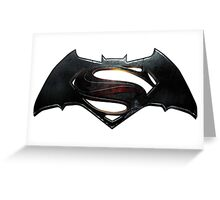 Batman VS Superman Logo Greeting Card