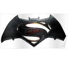 Batman VS Superman Logo Poster