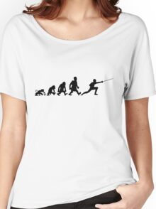 fencing escrime darwin evolution Women's Relaxed Fit T-Shirt