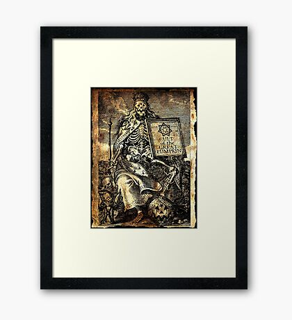 Cult of the Great Pumpkin: Worm King Framed Print