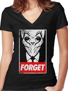 Obey The Silence Women's Fitted V-Neck T-Shirt