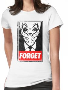 Obey The Silence Womens Fitted T-Shirt