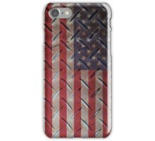 """United States """"painted on metal structure #1"""" flag iPhone Case/Skin"""