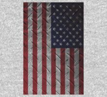 "United States ""painted on metal structure #1"" flag Kids Clothes"