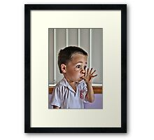Do you think I can make my head explode? Framed Print