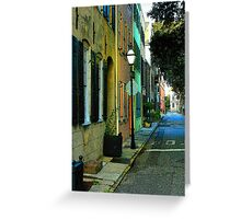 Back Street in Charleston Greeting Card