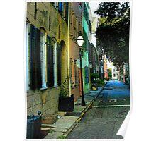 Back Street in Charleston Poster