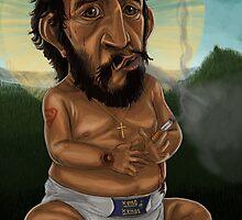 Baby Jesus having a smoke break by JamesAgpalza