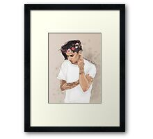 Zayn floral crown Framed Print