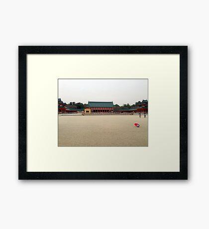 Heian Shrine, March 2013: Photo Friday at meauxtaku.com Framed Print