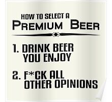 Premium Beer Poster