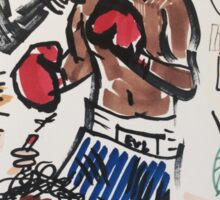 Basquiat V Warhol  Sticker