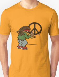 cartoon rasta reggae peace and love T-Shirt