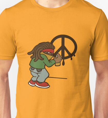 cartoon rasta reggae peace and love Unisex T-Shirt