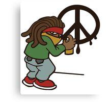 cartoon rasta reggae peace and love Canvas Print