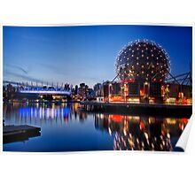 Telus Building & BC Place Stadium, Vancouver Poster