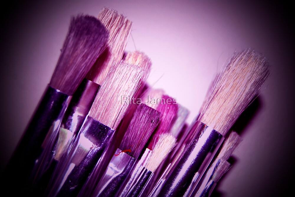 Purple Stroke by Rita James