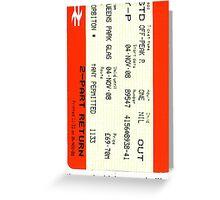 Glasgow train ticket ACDC Greeting Card